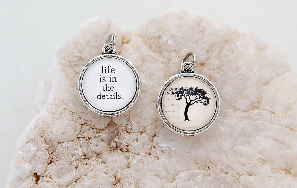Life Is In The Details Double Bubble Charm