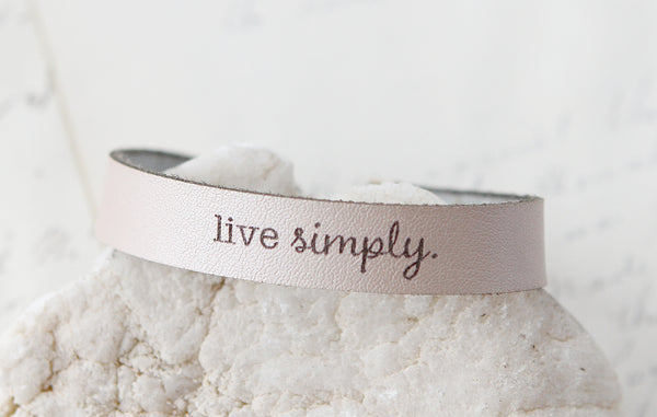 Live Simply Leather Bracelet