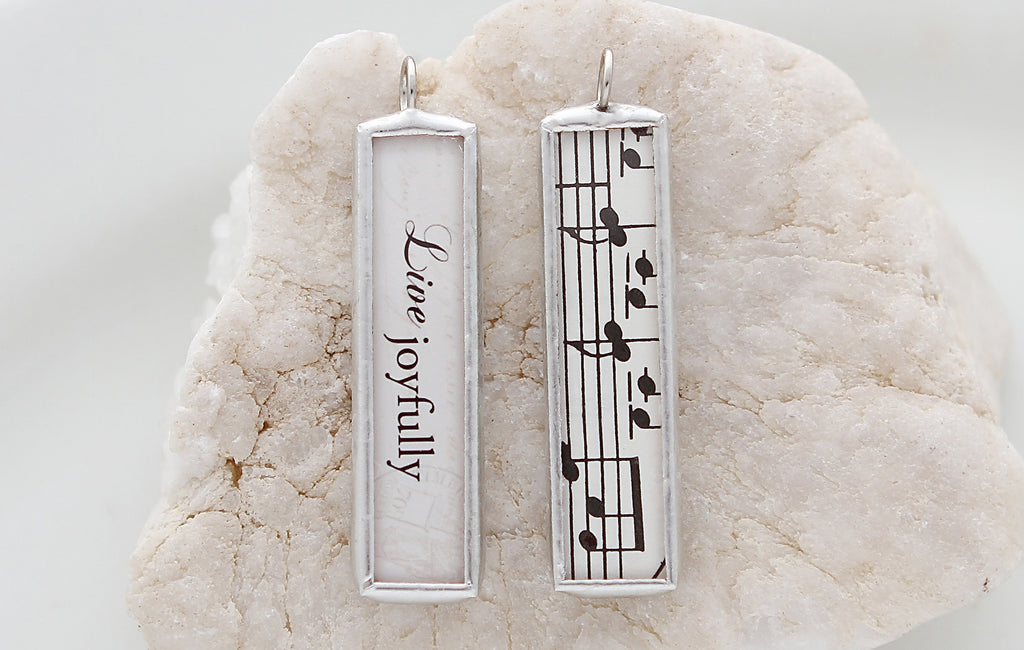 Live Joyfully Soldered Art Charm