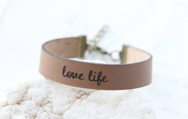 Love Life Leather Bracelet
