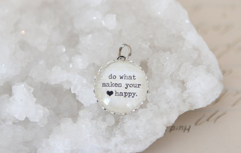 Make Your Heart Happy Bubble Charm
