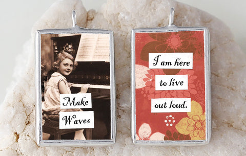 Make Waves Soldered Art Charm