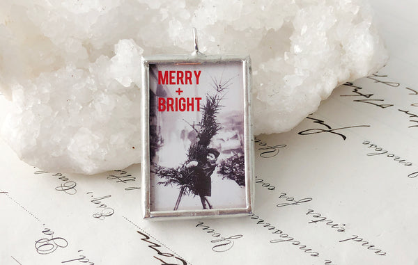 Merry and Bright Soldered Art Charm