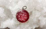 Merry Christmas Ya Filthy Animal Bubble Charm Jewelry - Jennifer Dahl Designs
