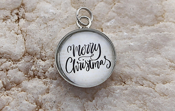 Merry Christmas Bubble Charm Jewelry