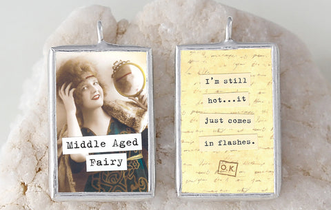 Middle Aged Fairy Soldered Art Charm