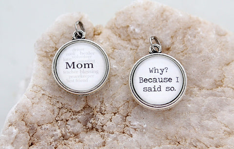 Mom Double Bubble Charm