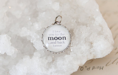 Love You To The Moon Bubble Charm