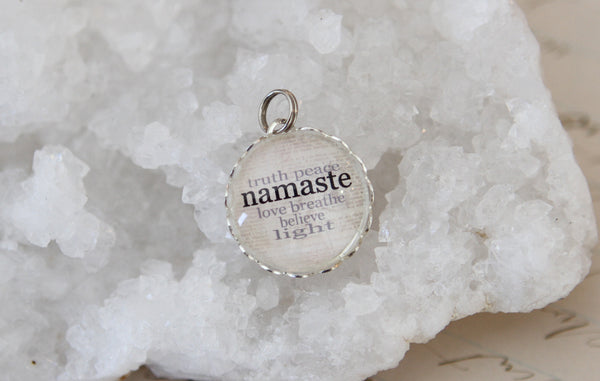 Namaste Bubble Charm - Jennifer Dahl Designs