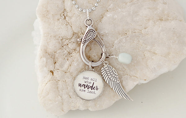 Not all Who Wander Necklace