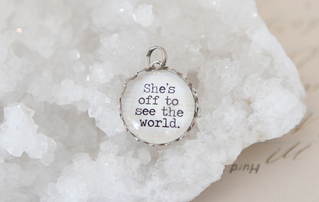 Off To See The World Bubble Charm - Jennifer Dahl Designs