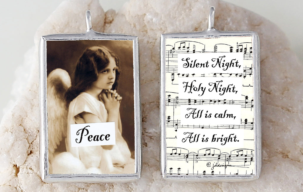 Peace Soldered Art Charm