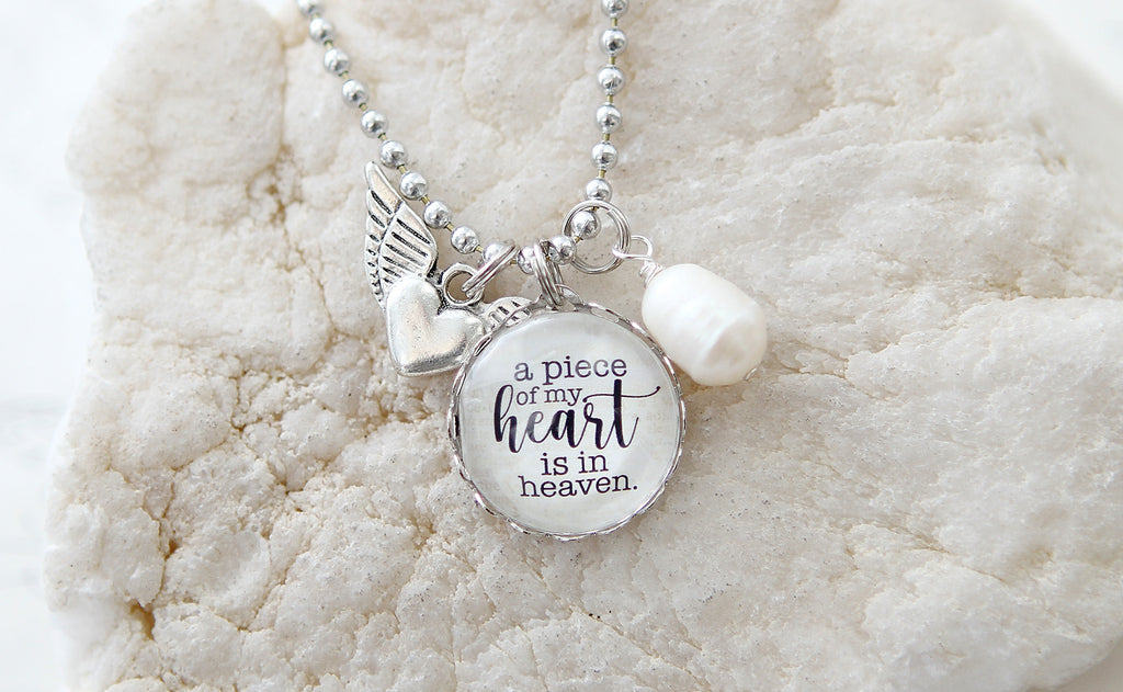 A Piece of My Heart Is In Heaven Necklace