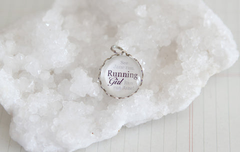 Running GIrl Bubble Charm