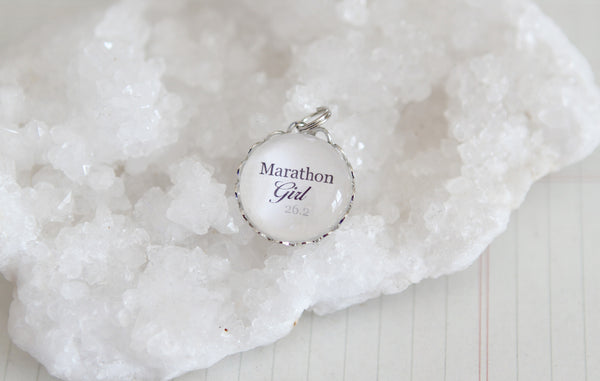 Marathon Girl Bubble Charm