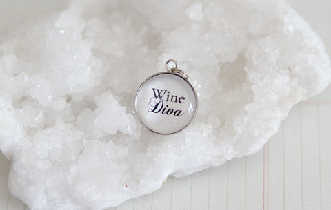 Wine Diva Bubble Charm