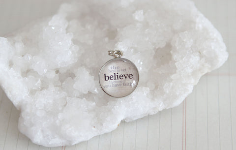 Believe Bubble Charm