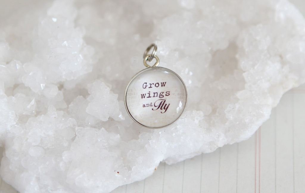 Grow Wings and Fly Bubble Charm - Jennifer Dahl Designs