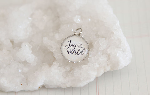 Joy to the World Bubble Charm