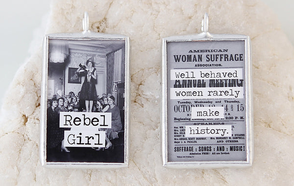 Rebel Girl Soldered Art Charm