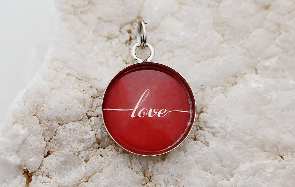 Red Love Bubble Charm - Jennifer Dahl Designs