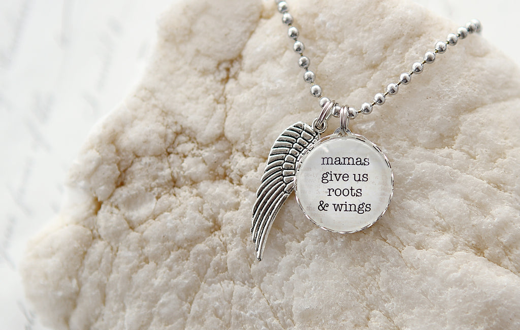 Roots and Wings Bubble Charm Necklace