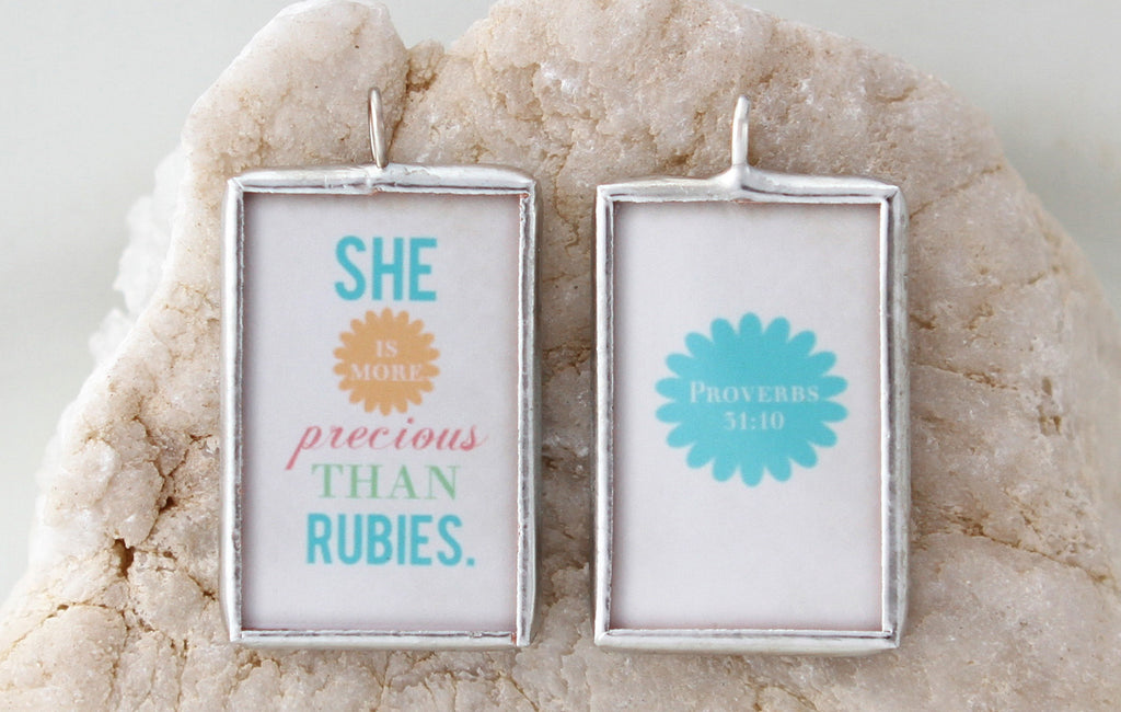 Proverbs 31 Soldered Art Charm