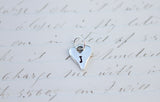 Tiny Silver Heart Initial - Jennifer Dahl Designs