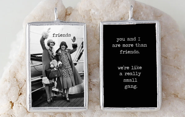 Friends Small Gang Soldered Art Charm