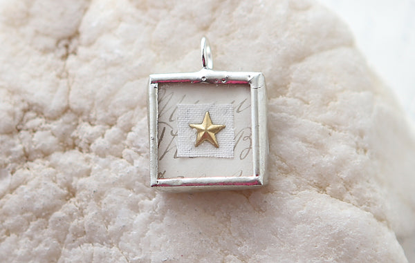 Shadowbox Gold Star Soldered Charm