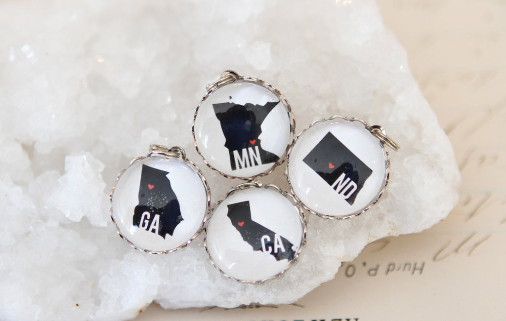State Bubble Charm - Jennifer Dahl Designs