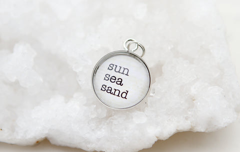 Sun Sea Sand Bubble Charm