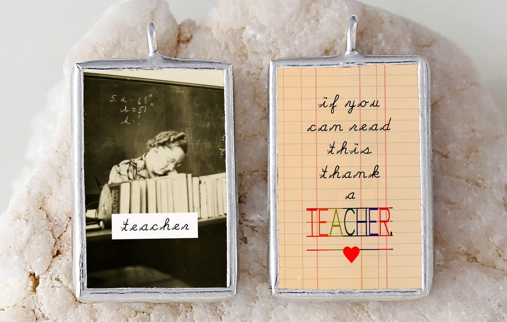Thank a Teacher Soldered Art Charm