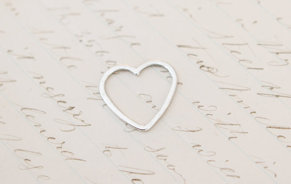Open Heart Tiny Charm - Jennifer Dahl Designs