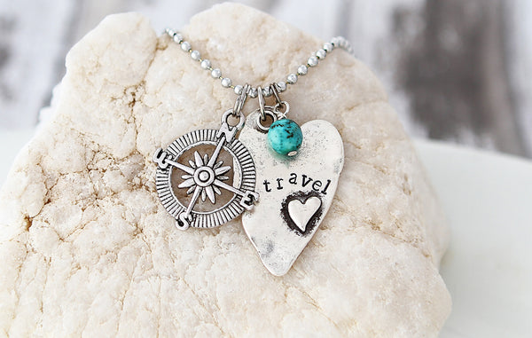 Travel Heart Necklace