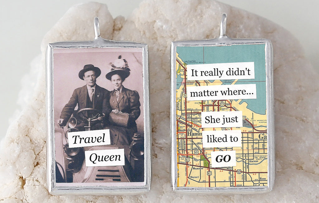 Travel Queen Soldered Art Charm