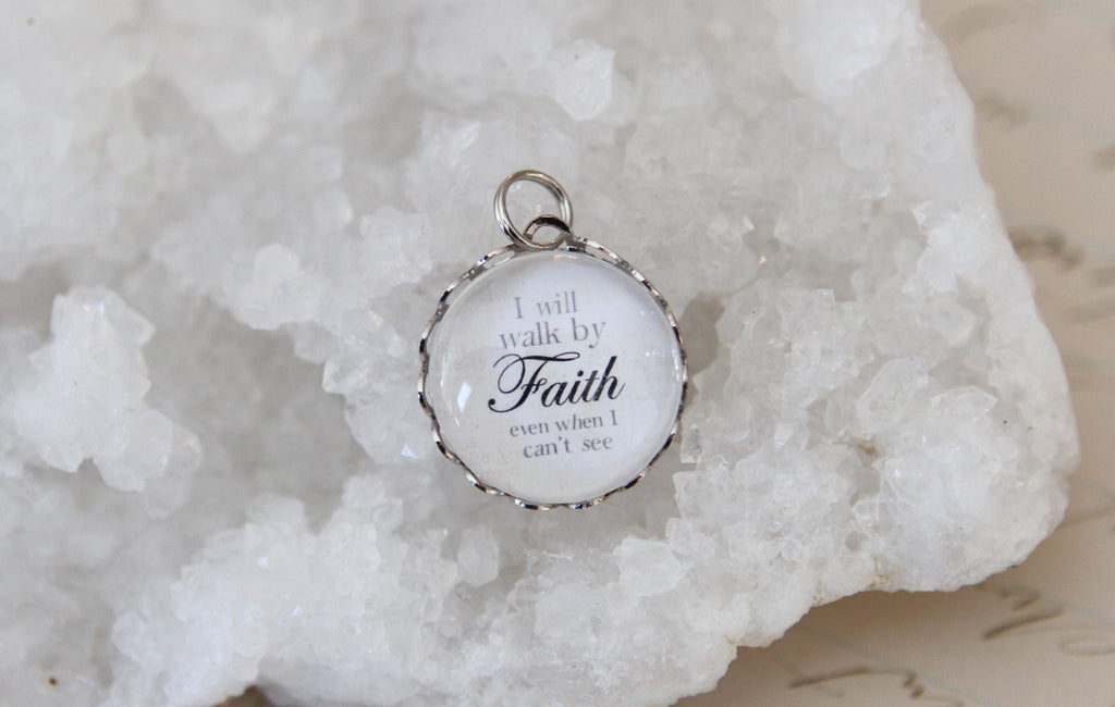 Walk By Faith Bubble Charm - Jennifer Dahl Designs
