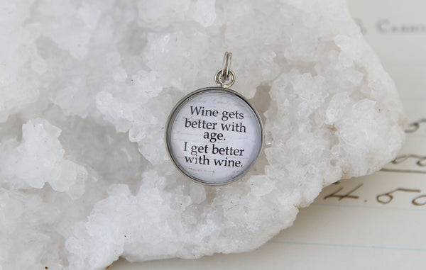 Wine Gets Better With Age Bubble Charm