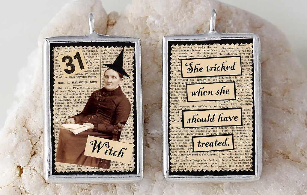 Witch Soldered Art Charm