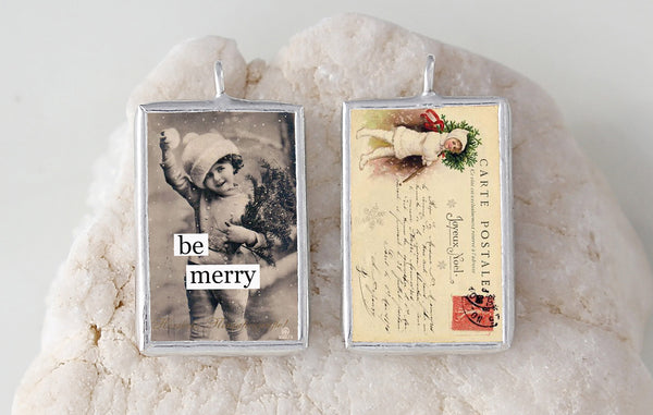 Be Merry Soldered Art Charm Jewelry