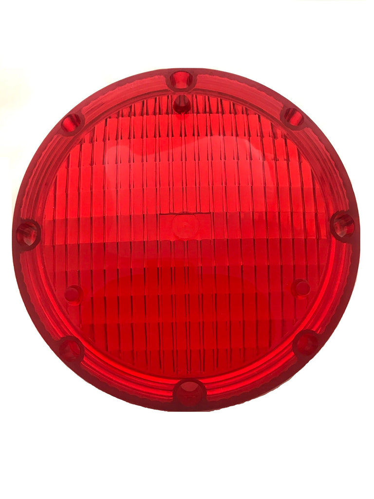 "Lens, 7"" Sealed Beam, Warning, Red"