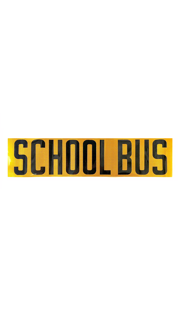 "Decal, School Bus, Hi-Intensity, 9"" x 38.5"", Black on Yellow"