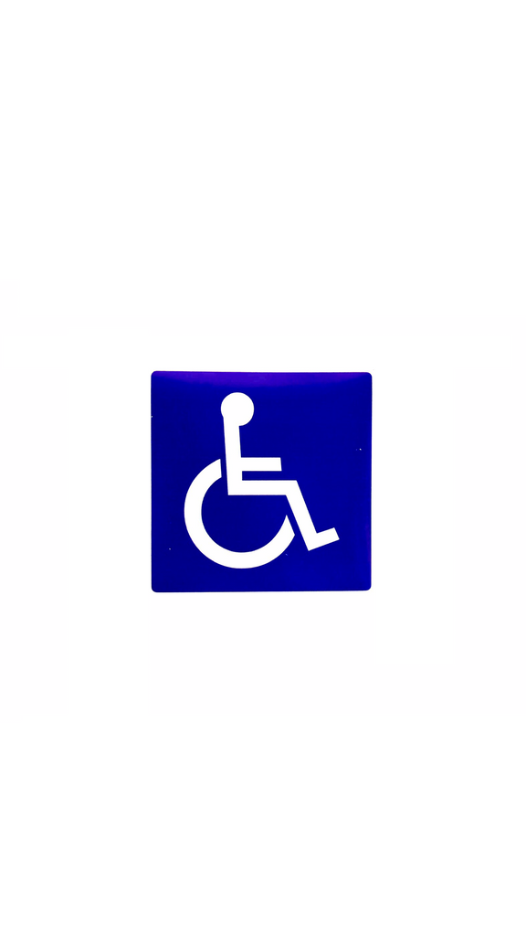 Decal, Reflective Wheelchair, 4In