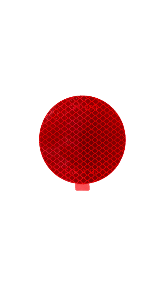 "Reflector, 3"" Round Flexible Stick On, Red"