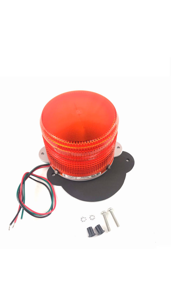 "Strobe, Dbl Flash, Roof Mnt Amber - LED 4"" Low Profile"