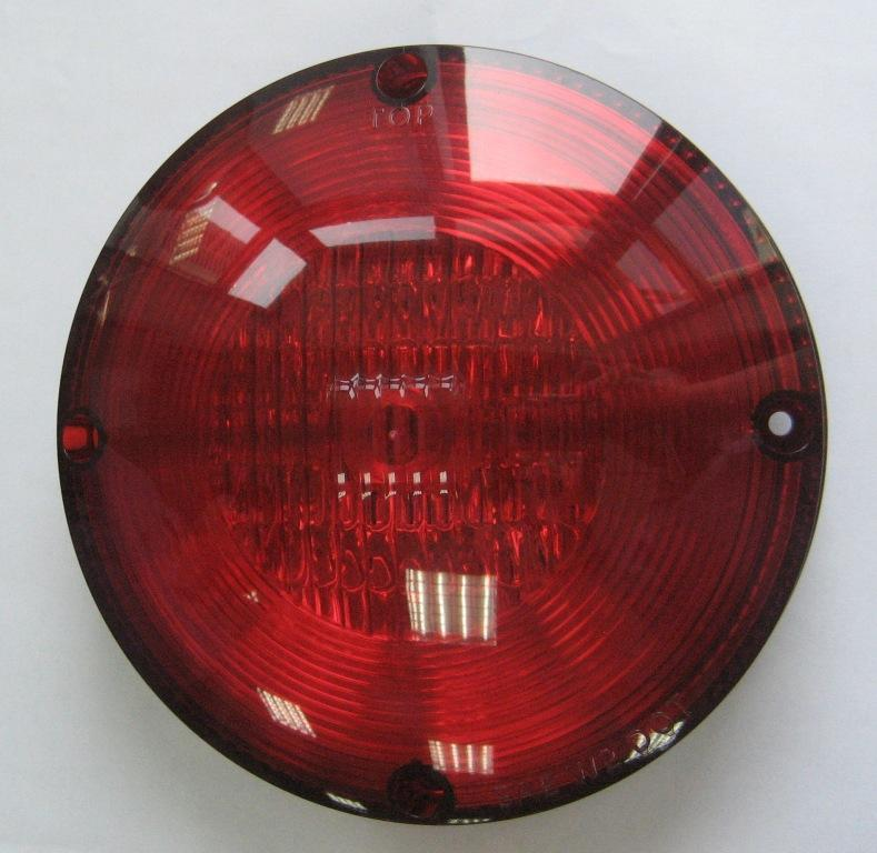 "LED Warning, 7"" Round, 9-Diode, Red"