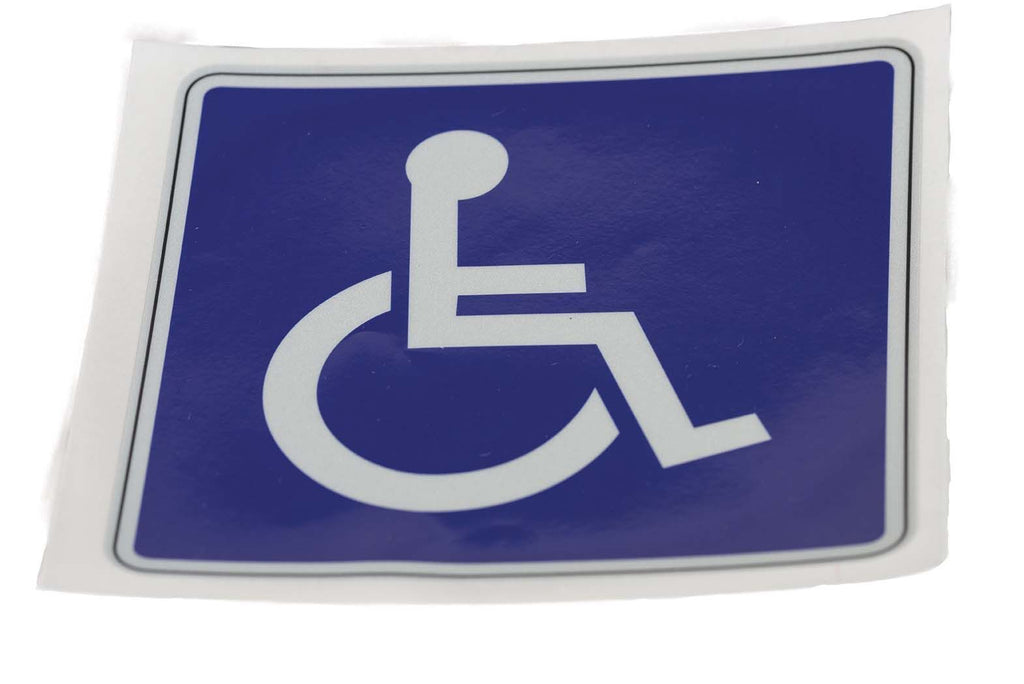 Decal, Reflective Wheelchair, 6x6In