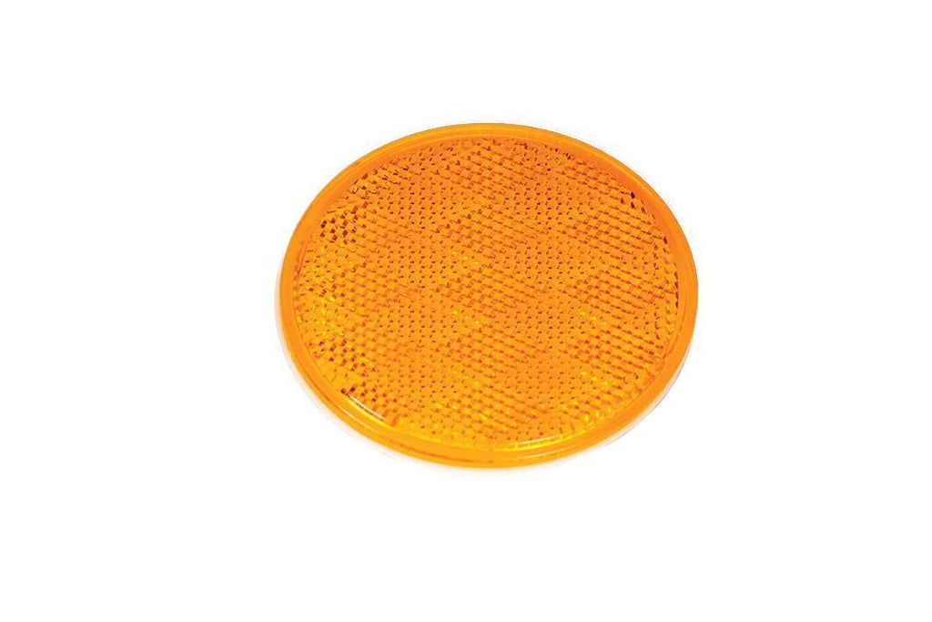 Lens, Reflector, Stick-On, 3-3/16In, Amber