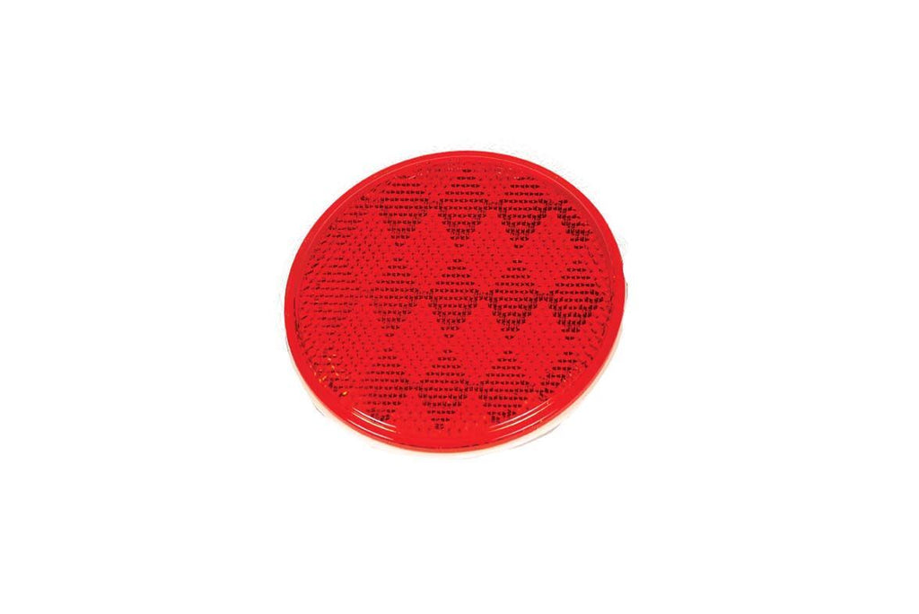 Lens, Reflector, Stick-On, 3-3/16In, Red
