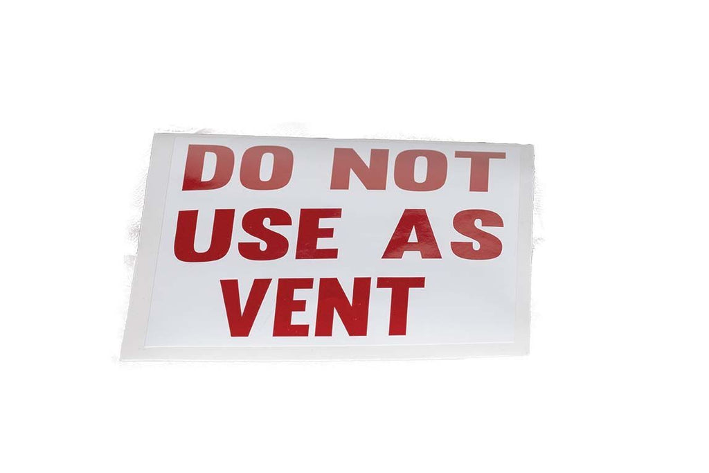 Decal - 6x6, Do Not Use As Vent